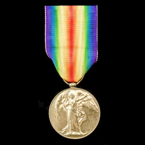 London Medal Company - A Victory Medal awarded to 2nd Lieut...