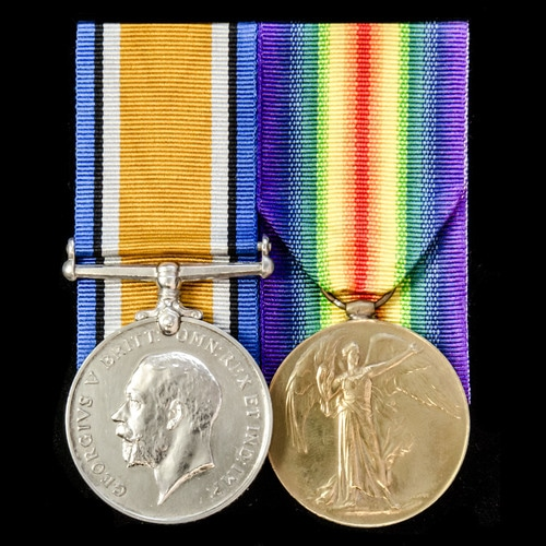 London Medal Company - ​A Great War pair awarded to Private ...