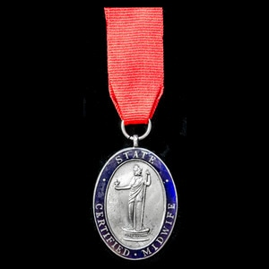 London Medal Company - A State Certified Midwife Badge, awar...