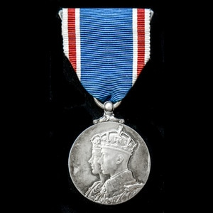 London Medal Company - Coronation Medal 1937, mounted on wea...