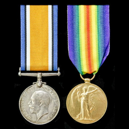 London Medal Company - A Great War pair awarded to Deck Hand...