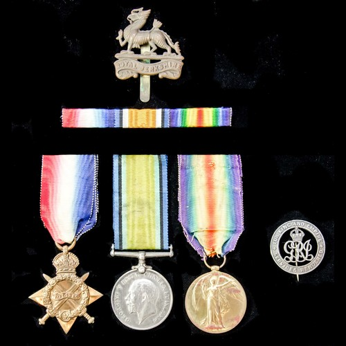 London Medal Company - ​A Great War 1914-1915 trio awarded t...
