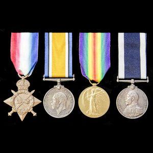 London Medal Company - A Great War long service group award...