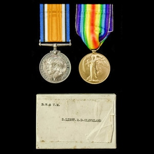 London Medal Company - A Great War pair awarded to 2nd Lieu...