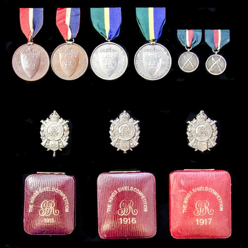 London Medal Company - ​A fine group of Great War period Mar...