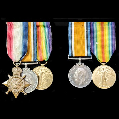 London Medal Company - ​A family group of Great War medals t...