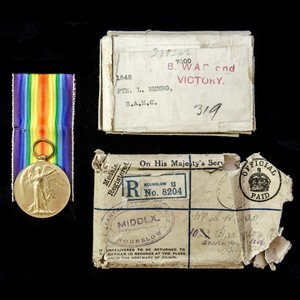 London Medal Company - A Victory Medal with its card box an...