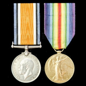 London Medal Company - A Great War Casualty pair awarded to ...