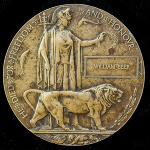 London Medal Company - A Great War Memorial Plaque named to ...