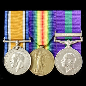 London Medal Company - A fine Great War and Iraq Rebellion g...