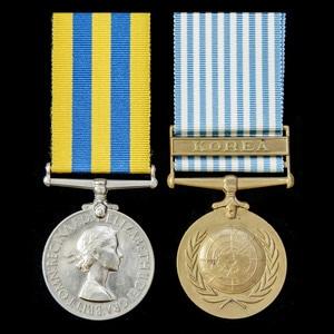 London Medal Company - A Korean War pair awarded to Telegrap...