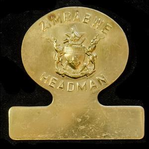 London Medal Company - Zimbabwe Headman's Breast Badge 1980 ...