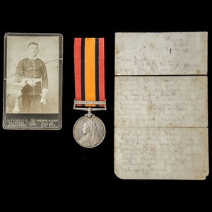 London Medal Company - An emotive Queen's South Africa Medal...