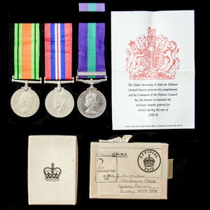 London Medal Company - A family group of medals, one a Gener...