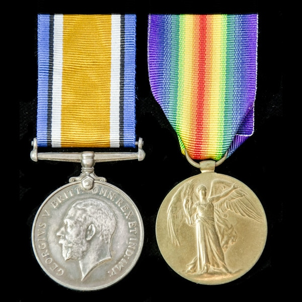 London Medal Company A Great War pair awarded to P.