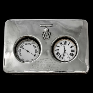 London Medal Company - Unusual presentation clock and barome...