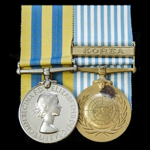 London Medal Company - A Korean War pair awarded to Corporal...