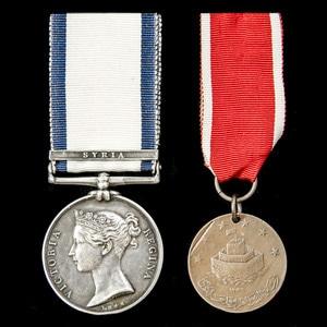 London Medal Company - A fine Syria 1840 operations pair awa...