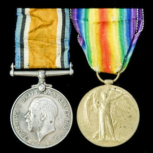 London Medal Company - A Great War pair awarded to Private H...
