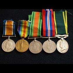 Charlies Medals BWM, VM, DM, WM & EM Territor.