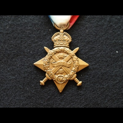 Charlies Medals 1914 Star GNR Reilly 24th Bde.